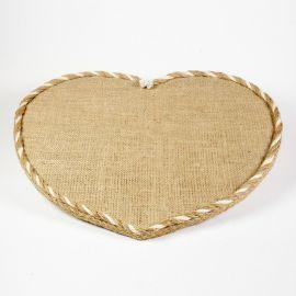 Δίσκος Ξύλινος CANVAS HEART