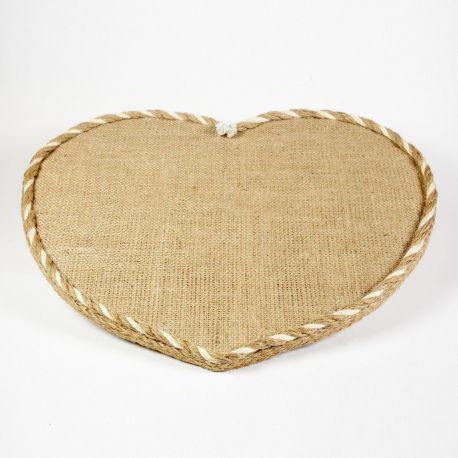 Wooden Tray CANVAS HEART