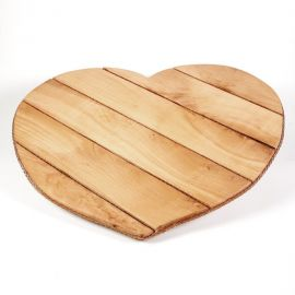 Wooden Tray BEECH HEART