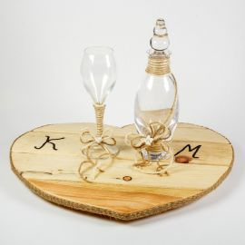 Wedding Set PINE HEART