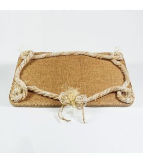 Wooden Tray CANVAS FLOWER