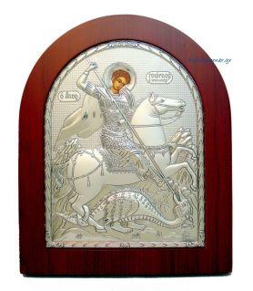 Ασημένια Εικόνα Άγιος Γεώργιος