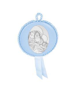 Ασημένια Εικόνα Παιδική Στρογγυλή Σιέλ 2