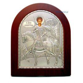 Ασημένια Εικόνα Άγιος Δημήτριος