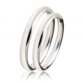 Classic White Gold Wedding Rings