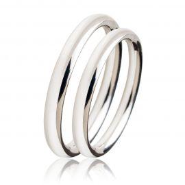 Λευκόχρυση Βέρα Γάμου Κλασική