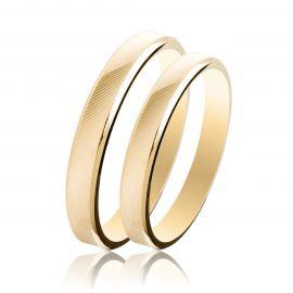 Βέρα Γάμου Χρυσή Σατινέ