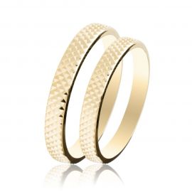 Engraved Gold Wedding Rings