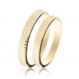 Χρυσή Βέρα Γάμου Σκαλιστή