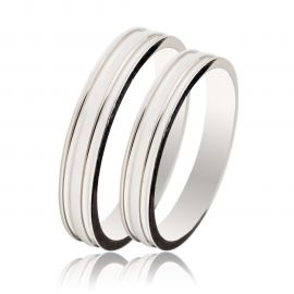 Handmade White Gold Wedding Rings