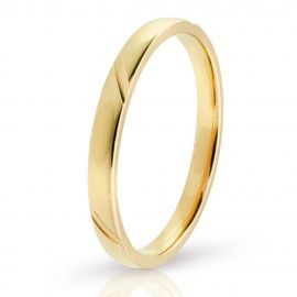 Χρυσή Βέρα Γάμου με Σκάλισμα