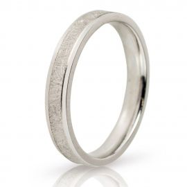 Wire Brushed White Gold Wedding Ring