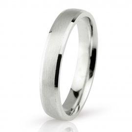 Matte White Gold Wedding Ring