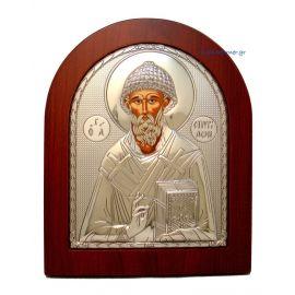Ασημένια Εικόνα Άγιος Σπυρίδωνας