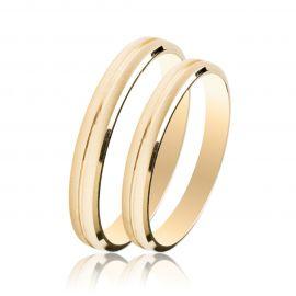 Χρυσή Βέρα Γάμου Σατινέ