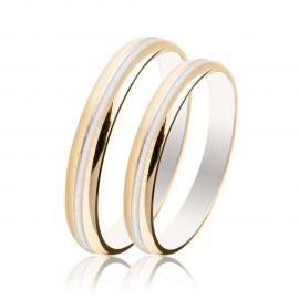 Two-Tone Wedding Rings Bull