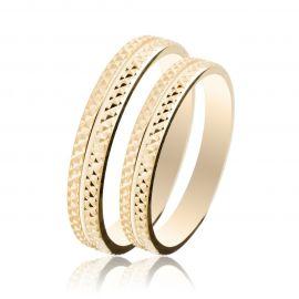 Engraved Gold Wedding Rings
