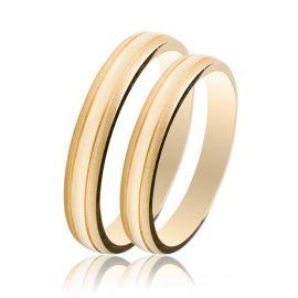 Χρυσή Βέρα Γάμου Ματ - Λουστρέ
