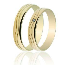 Χρυσή Βέρα Γάμου Χειροποίητη Λουστρέ