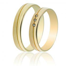 Χειροποίητη Βέρα Γάμου Χρυσή με Πέτρες