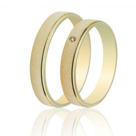 Χρυσή Βέρα Γάμου Ματ Λουστρέ