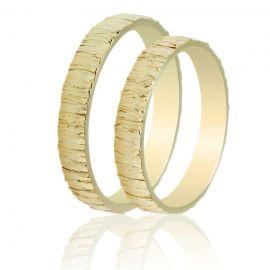 Χρυσή Βέρα Γάμου Σκαλιστή Χειροποίητη