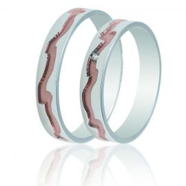 Handmade Wedding Rings with Wavy-Like Engravings