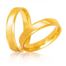 Χρυσή Βέρα Γάμου Χειροποίητη Ιριδίζουσα