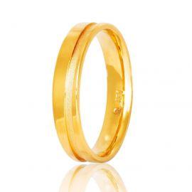 Λουστρέ Βέρα Γάμου Χειροποίητη Χρυσή