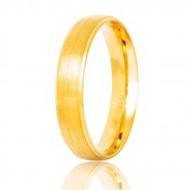 Χειροποίητη Βέρα Γάμου Χρυσή Ματ