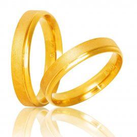 Χειροποίητη Βέρα Γάμου Ματ με Λουστρέ Λεπτομέρια