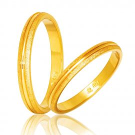 Handmade Gold Wedding Rings Bull
