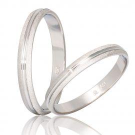 Χειροποίητη Βέρα Γάμου Λευκόχρυση Σαγρέ