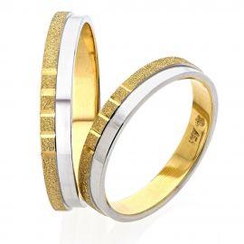 Δίχρωμη Χειροποίητη Βέρα Γάμου