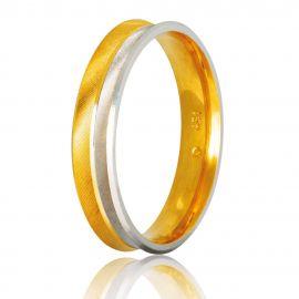 Ανατομική Βέρα Γάμου Δίχρωμη
