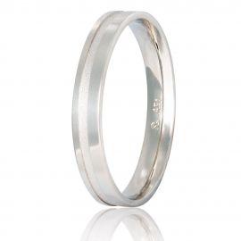Handmade Polish Finished Matte White Gold Wedding Ring