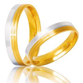 Δίχρωμη Βέρα Γάμου σε Ιδιαίτερο Σχεδιασμό