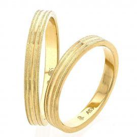Χρυσή Βέρα Γάμου Χειροποίητη