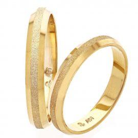 Ματ Βέρα Γάμου Χρυσή με Λουστρέ Άκρες