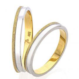 Λουστρέ Βέρα Γάμου Δίχρωμη με Ματ Λεπτομέρεια