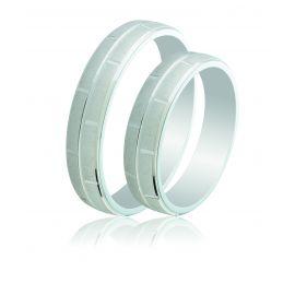 Engraved Silver Wedding Rings
