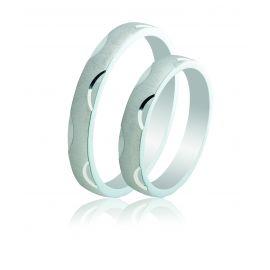 Ασημένια Βέρα Γάμου σε Μοντέρνα Γραμμή
