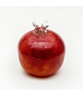 Hand-blown Glass Red Pomegranate