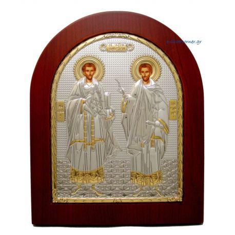 St. Kosmas & Damianos (Gold Decoration)