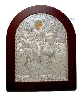 Ασημένια Εικόνα Άγιος Μηνάς