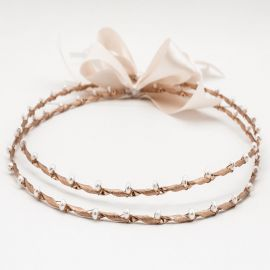 Handmade Wedding Crowns ROSE GOLD PEARL