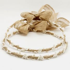 Handmade Wedding Crowns CANVAS KNITTED LACE