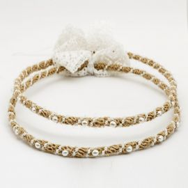 Handmade Wedding Crowns CANVAS PEARL RIBBON