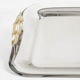 Stainless Steel Tray 18/10 GOLD LEAF