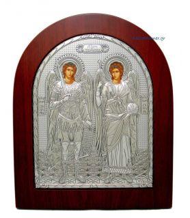 Ασημένια Εικόνα Μιχαήλ και Γαβριήλ